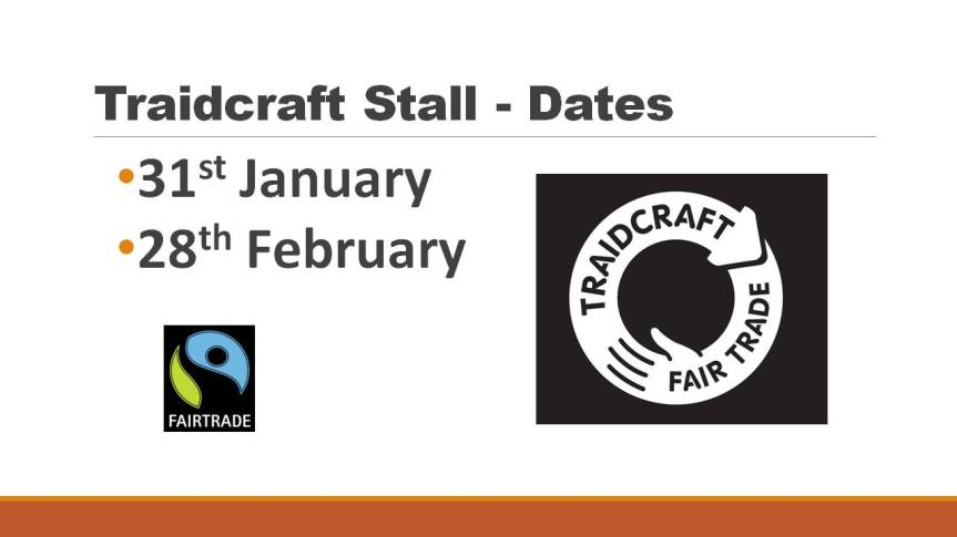 Fairtrade Stall - Dates2016