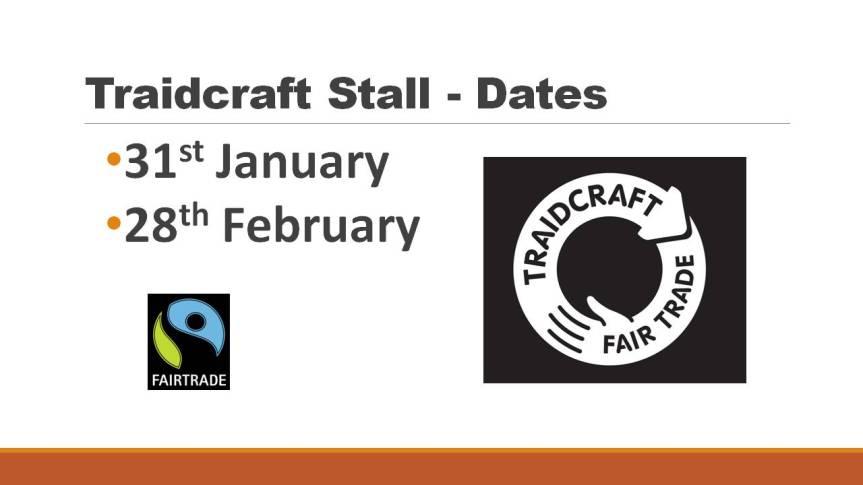 Fairtrade Stall - Dates2016