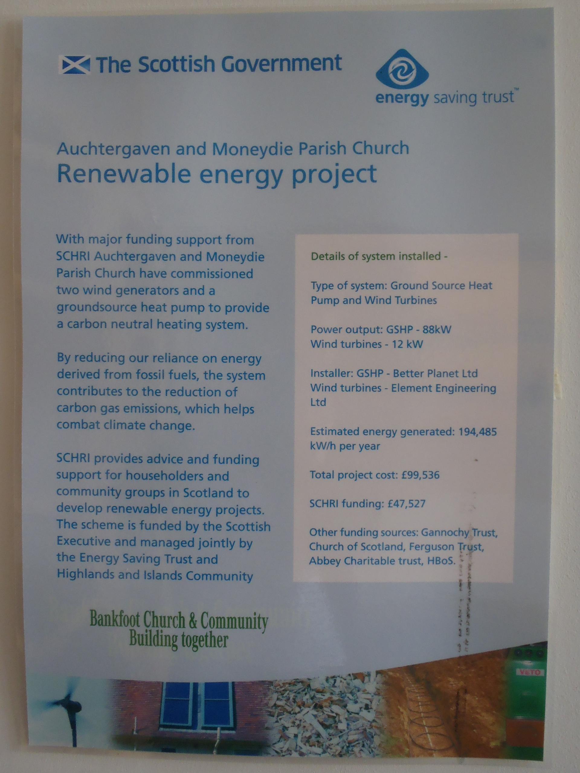 Eco congregation Award – Bankfoot Church Centre