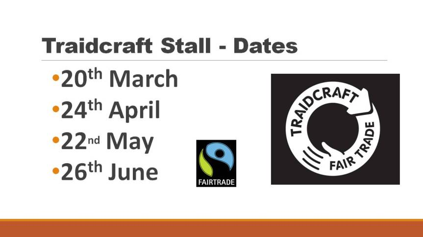 Fairtrade Stall - Dates mid2016