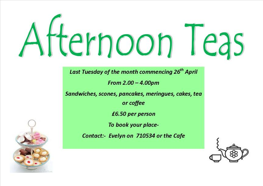 afternoon teas 2016