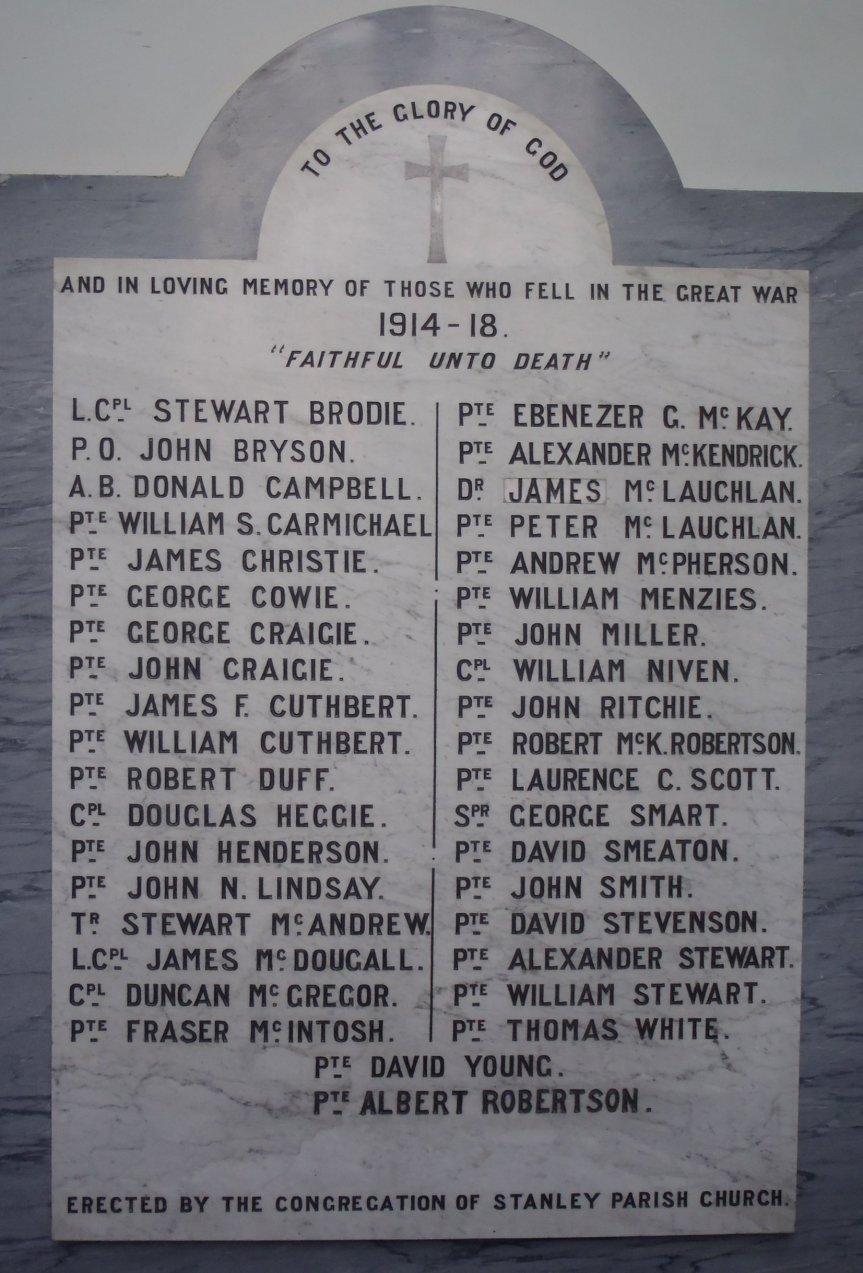 War Mem 1 Stanley Church
