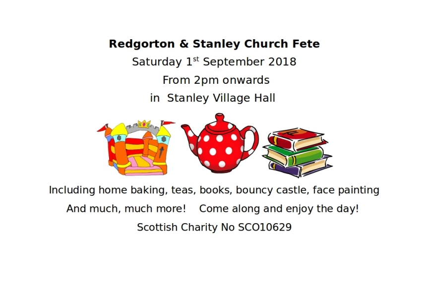 Stanley Church Fete Poster 2018