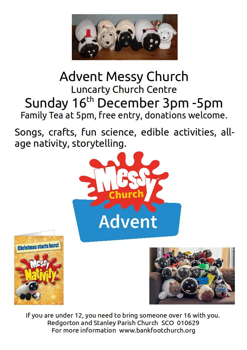 Advent messy Church poster