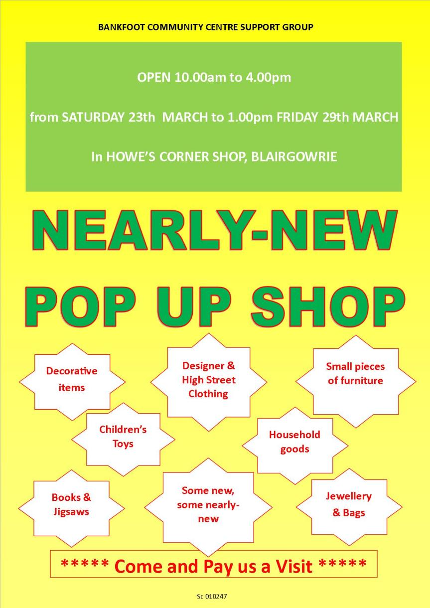 Nearly New Pop Up Shop