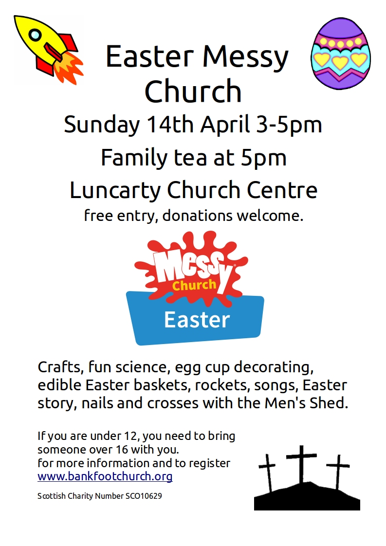 Easter Messy Church 2019 Bankfoot Church Centre