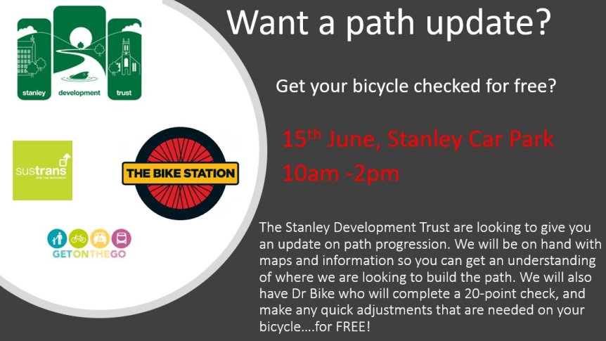 Stanley Development Trust Dr Bike JPG