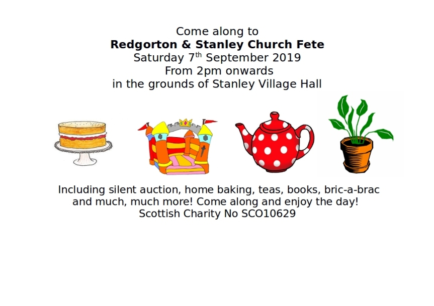 Redgorton and Stanley Church Fete 2019