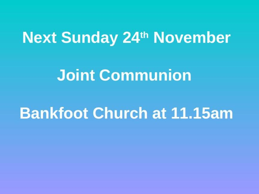 Church Notices 17/11/19