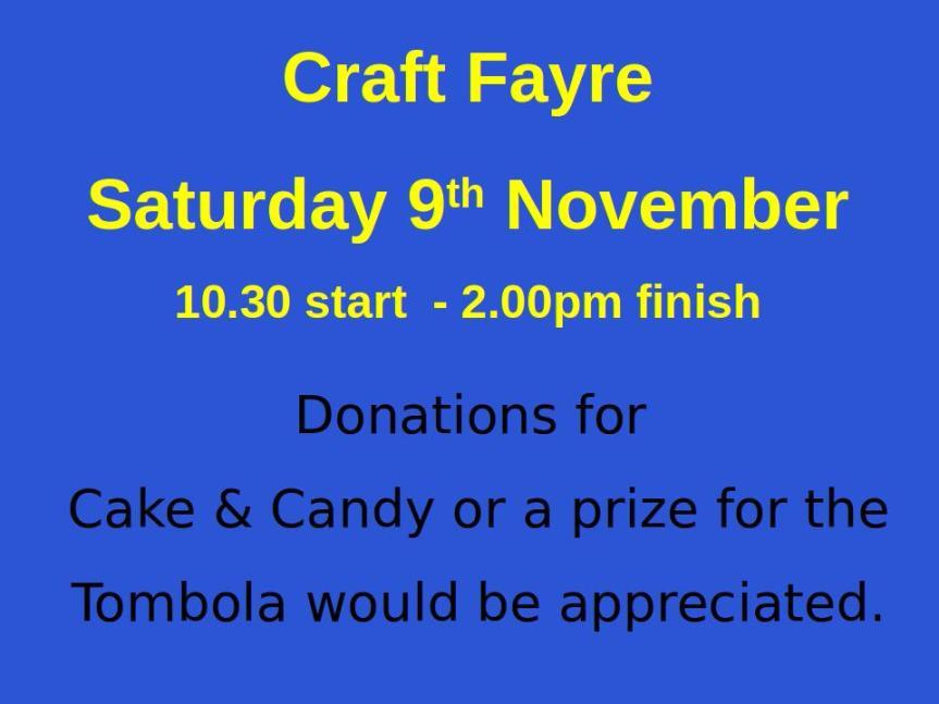 Craft Fayre November2019
