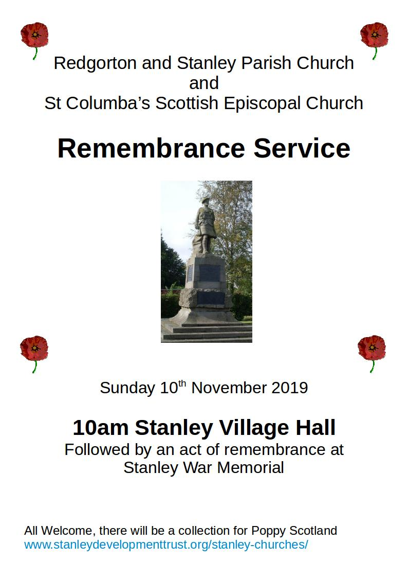 remembrance poster 2019